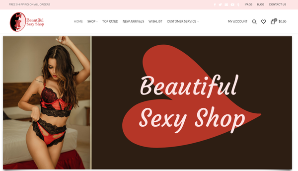 BEAUTIFUL SEXY SHOP - Automated Store, SEO Backlinks, $4,500/Mo Potential, 18-years OLD Domain  Google Indexed Ready - NO RESERVE!