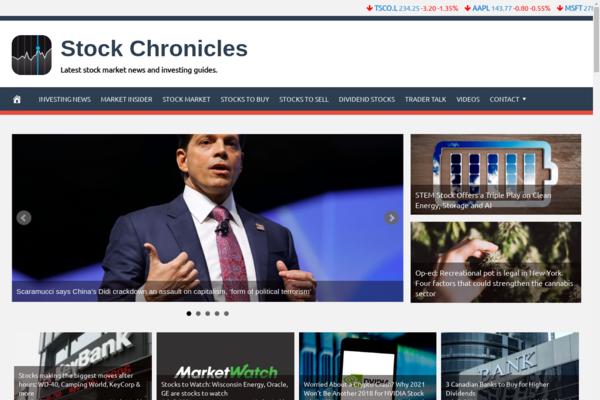 StockChronicles.com - 100% Automated, Premium Design, Hot Niche Stocks Website + BIN Hosting