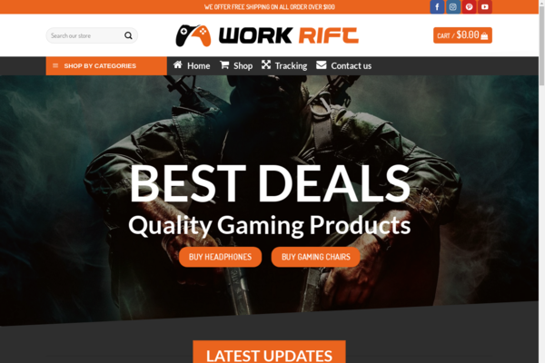 WorkRift.com - Gaming Dropshipping Business - HIGH POTENTIAL-Making Over $1,300/M