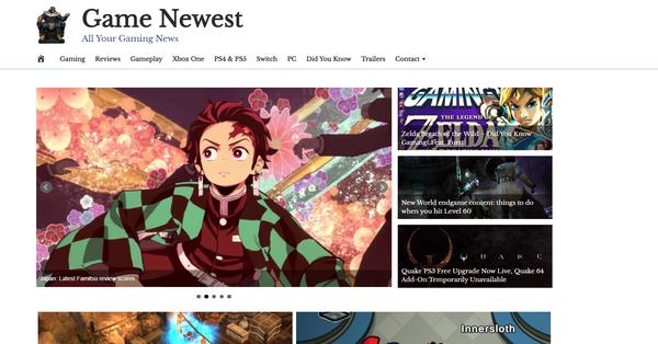 GameNewest.com - Premium Design Gaming News Website - Fully Automated - Amazon & Ad Income