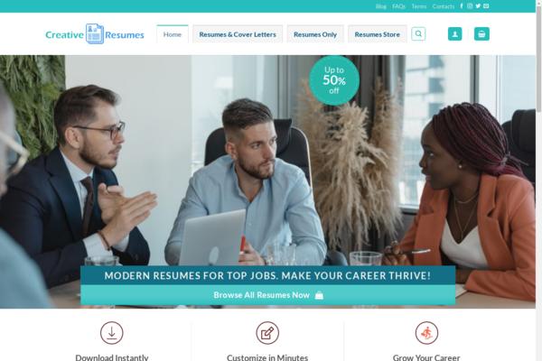 CreativeResumes.online - Digital Downloads (Premium Resumes) eCommerce Website ~ 100% Automated