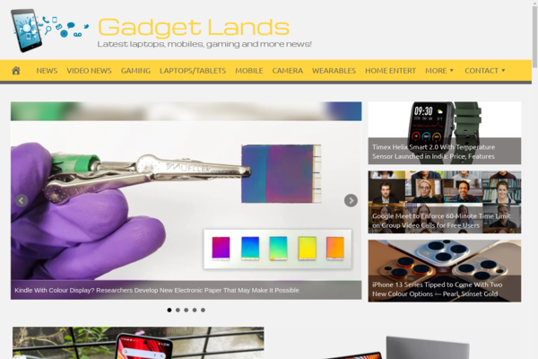 GadgetLands.com - Fully Automated Gadgets News Website. Get 5 Automated Websites worth over $900