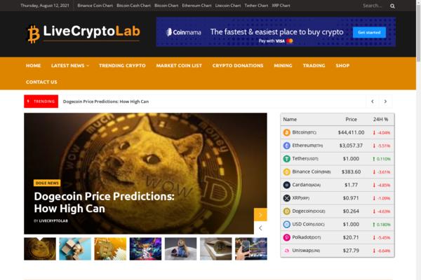 LiveCryptoLab.com - Autopilot Crypto BITCOIN News Blog Passive Income Stream