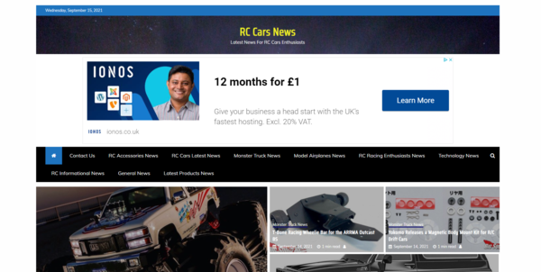 rc cars - Google News Approved Automatic Blogging Site Within The RC Cars Niche Adsense Approved