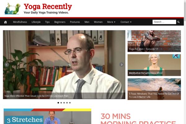 YogaRecently.com - Premium Design Yoga Website - Fully Automated - Amazon & Ad Income