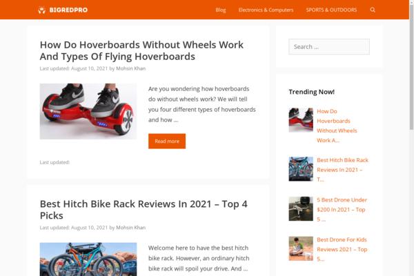 bigredpro.com - Sports-Focused Affiliate Marketing Site - Revenue Growth Potential