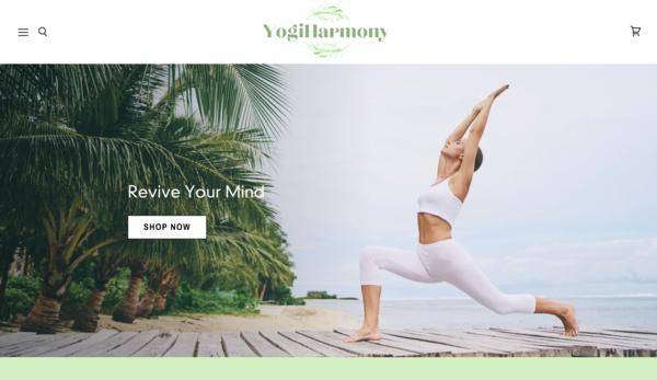 YogiHarmony.com - YogiHarmony.com| Premium Yoga Dropshipping Store | Domain Value $1,116