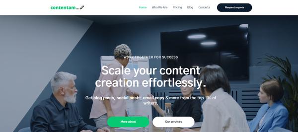 contentam.com - Hot Automated Copywriting Company. Newbie Friendly and Outsourced Business.