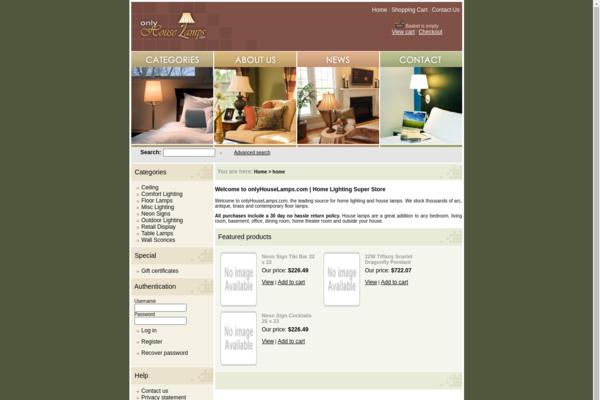 onlyHouseLamps.com - Established & Aged Drop Ship Home Decor Store. NO RESERVE!
