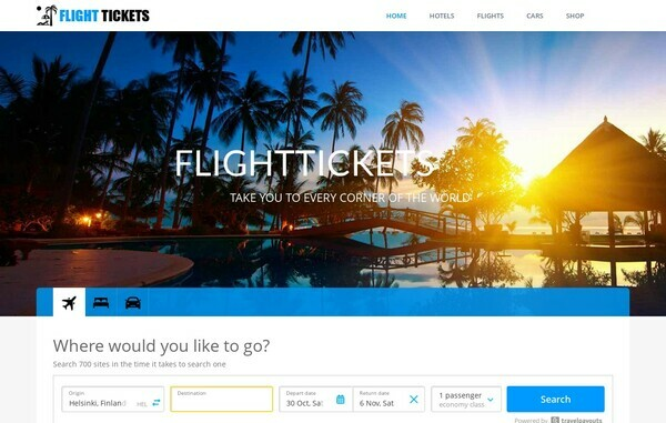 FlightTickets.live - Premium, Automated Flights & Hotels Booking Portal, Up to $4 per click, Pre Approved Affiliate Account Included, No Maintenance. No Experience required