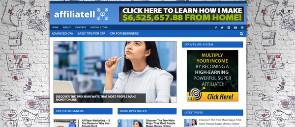affiliatell.com - Affiliate Marketing Blog with Unique Content 12,000 + Words. Get Organic Traffic