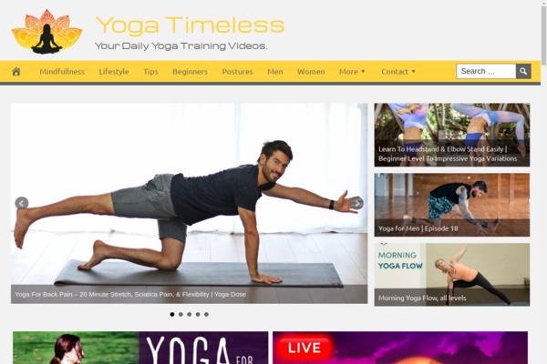 YogaTimeless.com - Premium Design Yoga Website - Fully Automated - Amazon & Ad Income