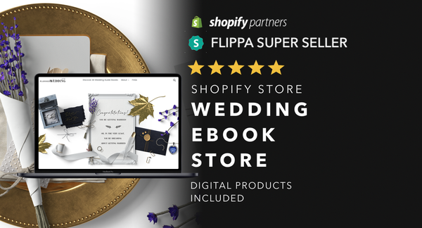TheWeddingGuidebook.com - Ecommerce Shopify Starter Store For Sale Specialising in the Wedding niche