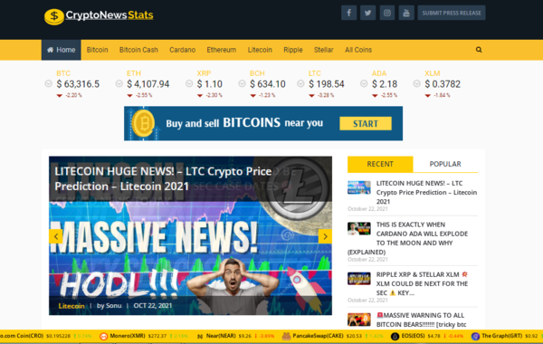 CryptoNewsStats - Fully automated video crypto news website. Plus, an automated website is free with this sale, and read the full description for other benefits.