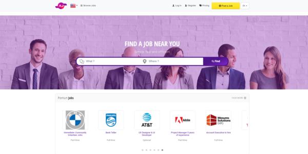 Advertising Jobs - Premium Website / Professionally Designed & For Job Seekers, Job Publish / Subscription Plans / Google AdSense / Affiliate Program / Multibillion Dollars Market
