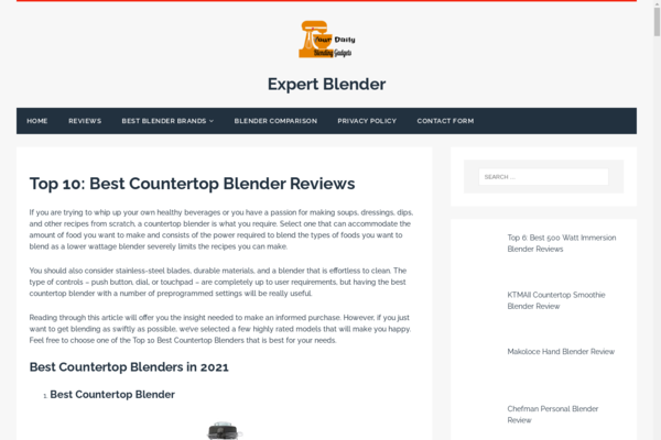 expertblenderreviews.com - Already earning website with huge potential to grow into a 4 figure website