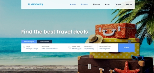 FlyBookr.com - Fully Automated Travel Site. Earn up to $10k/month. Highly Desirable Domain.