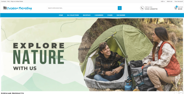 OutdoorPatrolling.com - Automated Outdoor/Camping Products Dropshipping Store,Suppliers Integrated