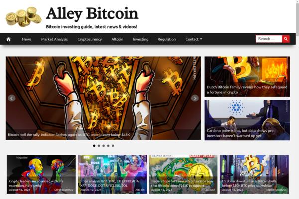 AlleyBitcoin.com - 100% Automated, Premium Design, Hot Niche BITCOIN Cryptocurrency Site, Amazon,CB