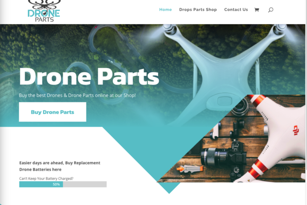 DroneParts.org - Premium Website: Gorgeous Drone Parts Content Website That is Built to Succeed