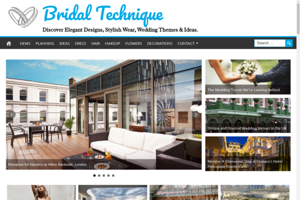 BridalTechnique.com - Wedding Website - 1 Year Free Hosting BIN - Fully Automated - Popular Niche