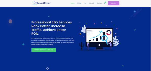 Smartfixer.xyz  - Beginner Friendly, Monthly Revenue $1500+ | SEO Service Selling Business | 100% Outsourced Established Business. Monthly Net Profit is around $600+USD.