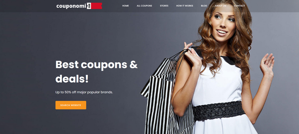 couponomi.com - Coupons & Deals Website like Groupon, Retailmenot. Potential Earn up to 10k$/mo Hottest Niche. Beginner-friendly. Ready-made.