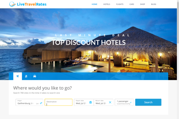 LiveTravelRates.com - Fully Automated Travel Website - Earn Up to $2500/mo - Huge Buy It Now Bonuses!