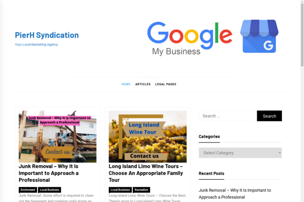 pierh.com - Pier H Website - Ecommerce Affiliate Sales, Guest Posting Income, Banner Ads etc