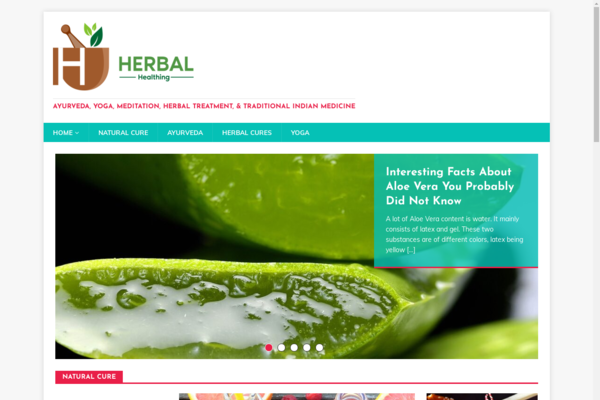 herbalhealthing.com - Health Website, Ready to Be Monetized with Adsense and Amazon
