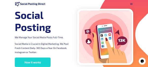 SocialPostingDirect.com - Social Media Posting Reseller Business. Premium Service, High Profit.