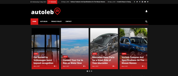 autoleb.com - Auto Blog with Unique Content 15,000 + Words, Potential Earn Up To $5k/mo