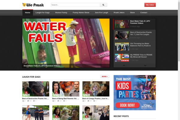 lifeprank.com - Viral Funny Video Site - 100% Automatic. No Maintain & Exp. Easy Traffic!