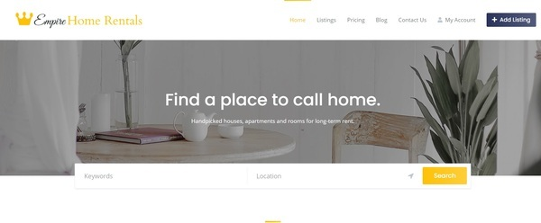 empirehomerentals.com - Start your own Real Estate Directory Site! Premium Domain Name! Low Reserve!