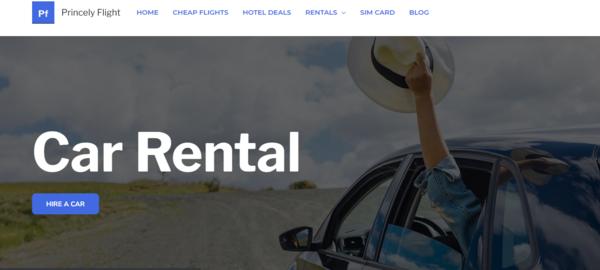 Princely Flight - Automated Travel site setup to make $10K/month in Affiliate Commissions! Flight, Hotel, Car rental, Bike rental, Internation SIM, Tour Tickets Affiliate Website