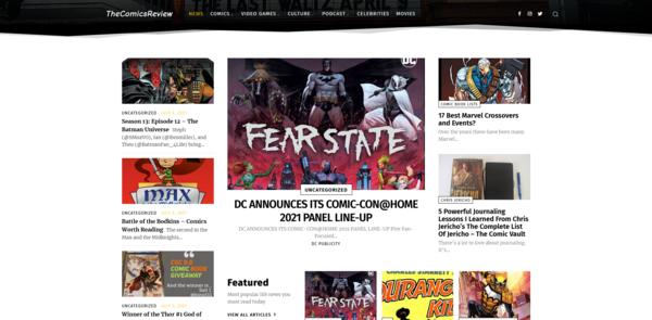 TheComicsReview.com - Auto Blogging Comics Review/News Blog With High DA 25, Aged Domain, 9K Backlinks