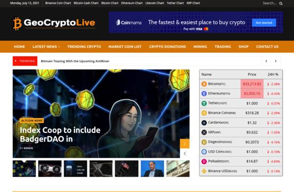 GeoCryptoLive.com - Autopilot Crypto Bitcoin News Blog Passive Income Stream