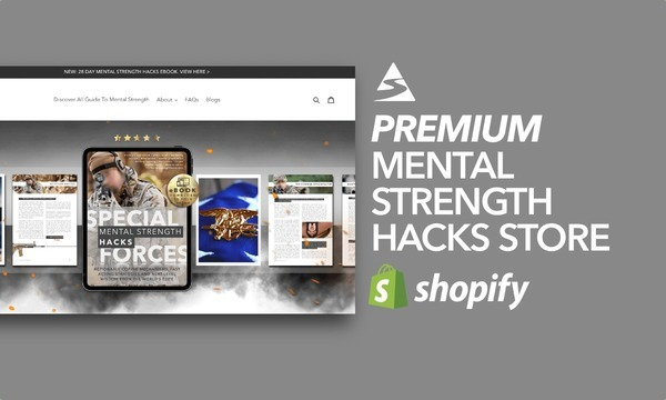 GuideToMentalStrength.com - Shopify Starter Store For Sale Specialising in Mental Strength Ebooks Niche
