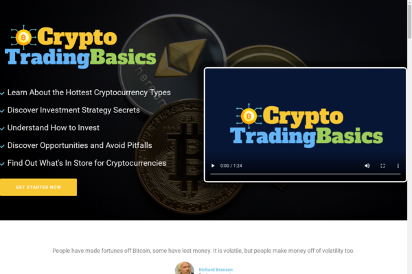 CryptoTradingBasics.com - Cryptocurrency Course Store, Digital Product, Wordpress/WooCommerce