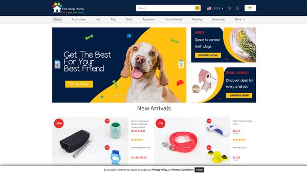 PetShopHome.com - PetsShopHome.com / Best-Selling Pet Products / Premium Theme + Plugins + FB ADS