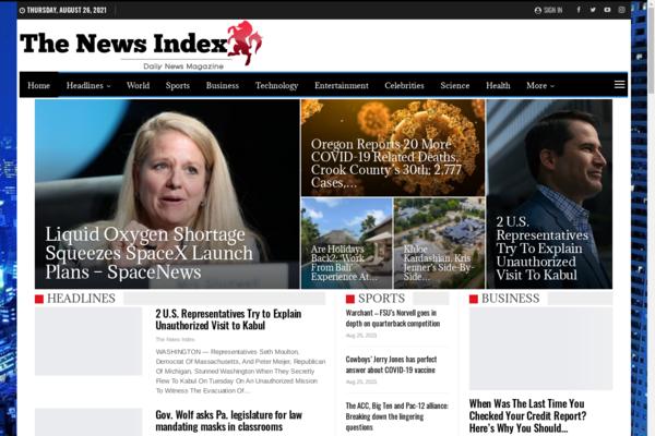 TheNewsIndex.net - Autopilot News paper Blog Magazine
