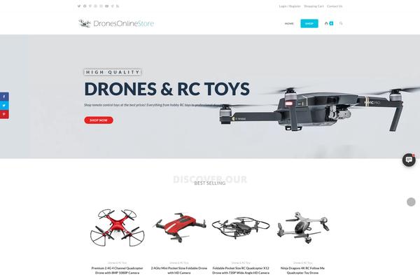 DronesOnlineStore.com - Drones RC Toys Store | Dropship | Keyword Domain | High Potential | FREE Hosting