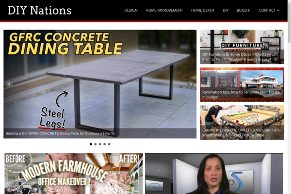 DIYNations.com - Fully Automated Home Improvement Site - 1 Year Free Hosting BIN + Great Bonuses