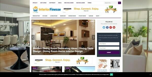 InteriorFinesse.com - Automated Interior Niche Blog To Make Money Online from Amazon Affiliate Program