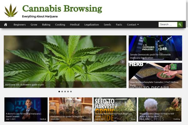 CannabisBrowsing.com - Fully Automated Cannabis Website - 1 Year Free Hosting BIN + Great Bonuses