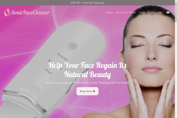 sonicfacecleaner.com - This website is dedicated to selling the SonicFaceCleaner Exfoliating tool.
