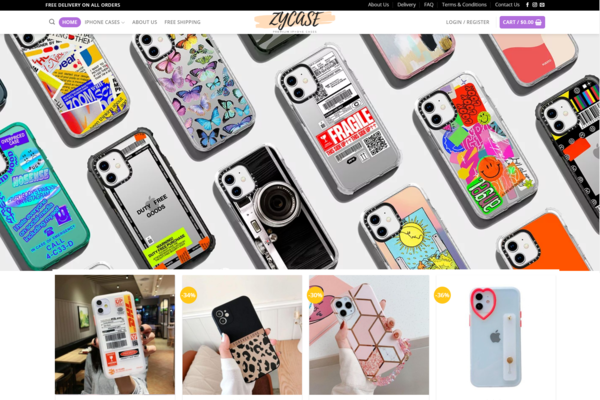 ZyCase.com - Premium iPhone Cases Dropshipping Store, Earn Up To $10k/Month| Domain $1862