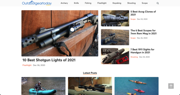 outdoorgeartoday.com - Advertising / Sports and Outdoor
