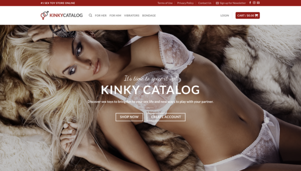 KinkyCatalog.com - Beginner friendly website. Drop ship store with no need of holding inventory.
