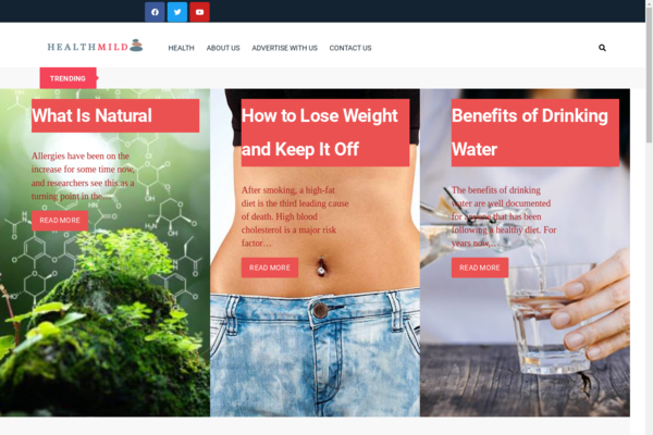 healthmild.com - Health Blog with Unique Content 12,000 + Words., Potential Earn Up To $5k/mo